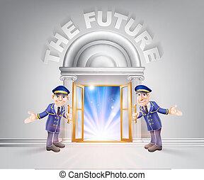 avenir, porte, portiers