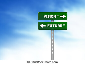 avenir, vision, panneaux signalisations