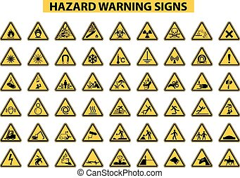 avertissement, danger, signes