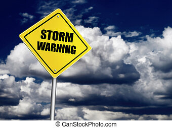 avertissement, orage, panneaux signalisations
