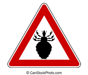 avertissement, pou, signe