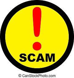 avertissement, scam, signe