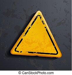 avertissement, signe métal
