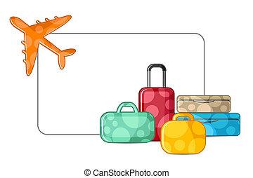 avion, bagage