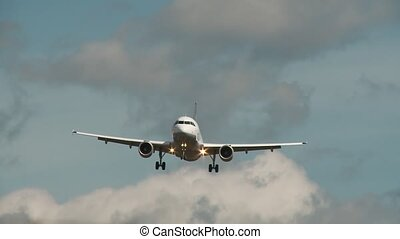 avion, bas, flys