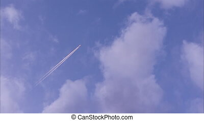 avion, ciel, jet