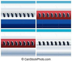 avion, commercial, fuselage