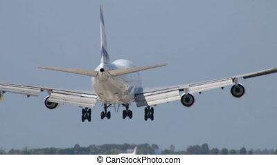 avion commercial, jet, atterrissage