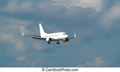 avion, -, hd, atterrissage, 1080