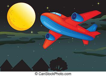 avion, lune