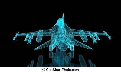avion, maille, combattant, 4k, jet
