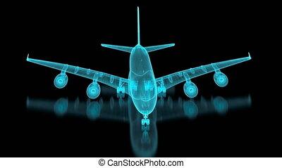 avion, maille, commercial, 4k