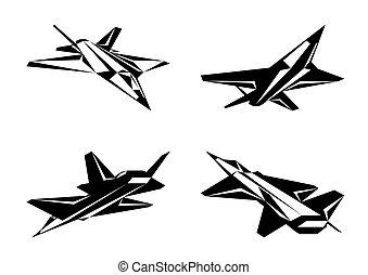 avion militaire, perspective