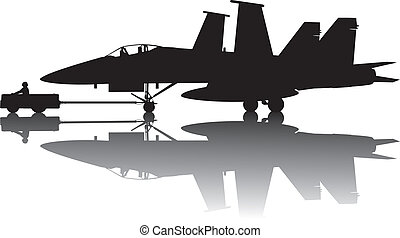 avion militaire, silhouette