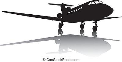 avion, silhouette