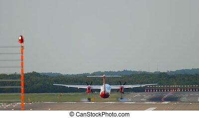 avion, turbopropulseur, atterrissage