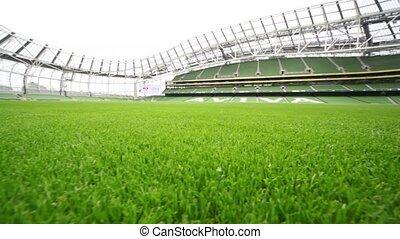 aviva, stade, vide, pelouse verte