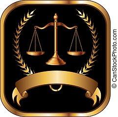 avocat, droit & loi, ou, joint or