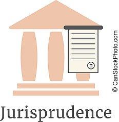 avocat, grec, logotype, colonnade