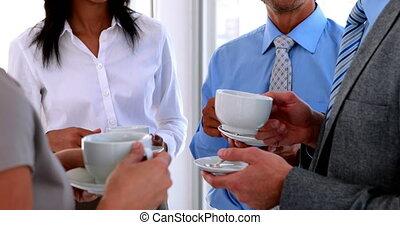 avoir café, equipe affaires