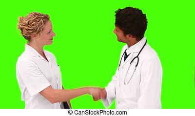 avoir, deux, médecins, réunion, jeune