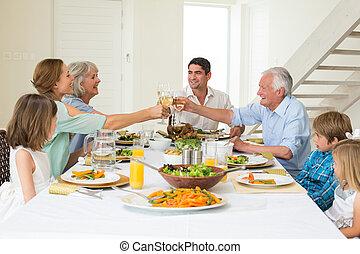 avoir, grillage, quoique, repas, famille