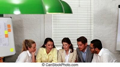 avoir, réunion, equipe affaires