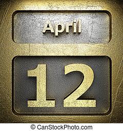 avril, 12, doré, signe