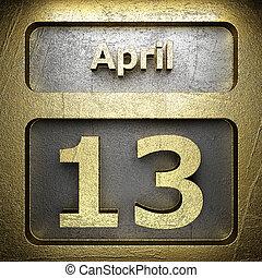 avril, 13, doré, signe