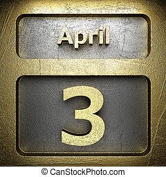 avril, 3, doré, signe
