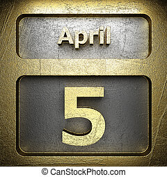 avril, 5, doré, signe
