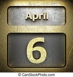 avril, 6, doré, signe