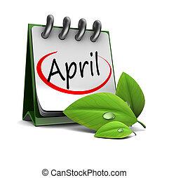 avril, calendrier