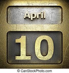 avril, doré, 10, signe