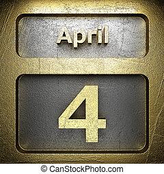 avril, doré, 4, signe