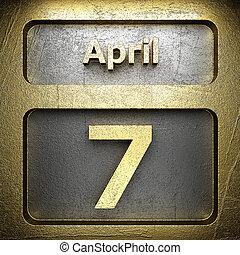 avril, doré, 7, signe
