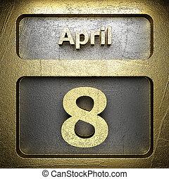 avril, doré, 8, signe