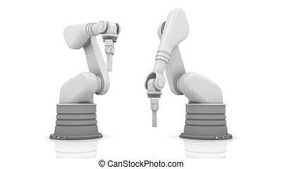 bâtiment, 201, industriel, bras, robotique