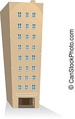 bâtiment, appartements