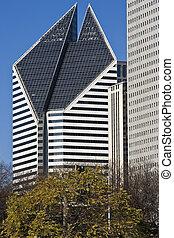 bâtiment, avenue michigan, chicago