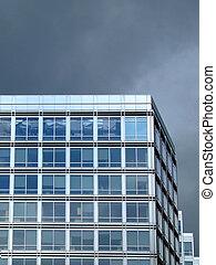 bâtiment, bureau faisant coin
