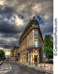 bâtiment, centre ville, -, france, bordeaux
