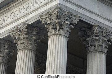 bâtiment, colonnes corinthiennes, gouvernement