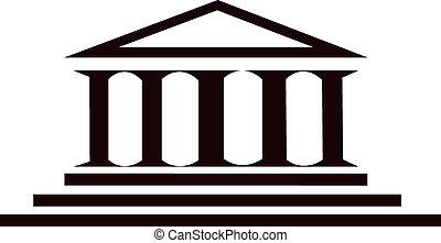 bâtiment, colonnes