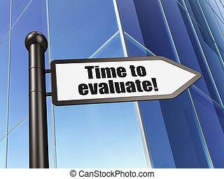 bâtiment, evaluate!, signe, fond, temps, concept: