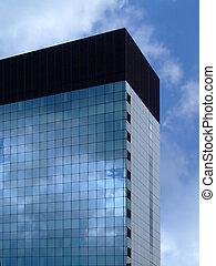 bâtiment, géométrique, constitué