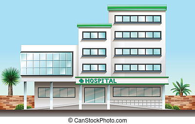 bâtiment, hôpital