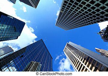 bâtiment, hong, affaires modernes, kong