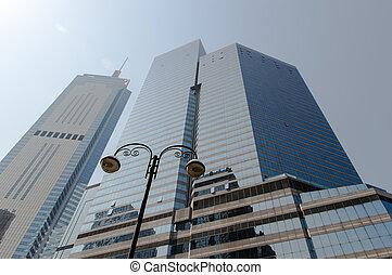 bâtiment, hong, bureau, kong