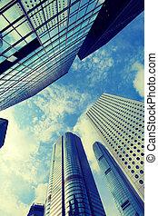 bâtiment, hong, highrise, kong